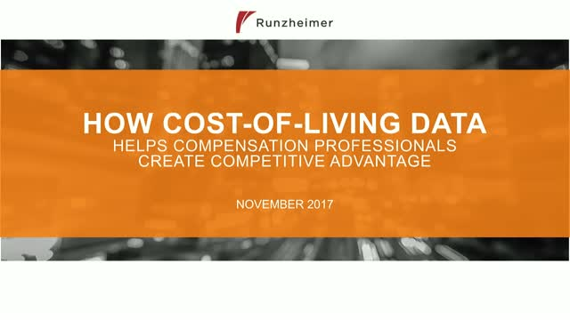 How cost-of-living data helps compensation professionals