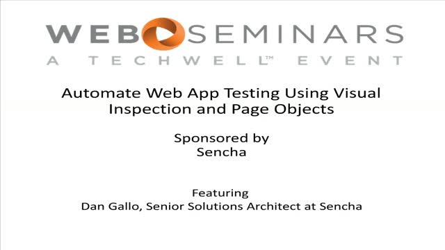 SNC - Automate Web App Testing Using Visual Inspection and Page Objects