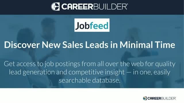 Experience Jobfeed: The lead generation tool for Staffing & Recruitment