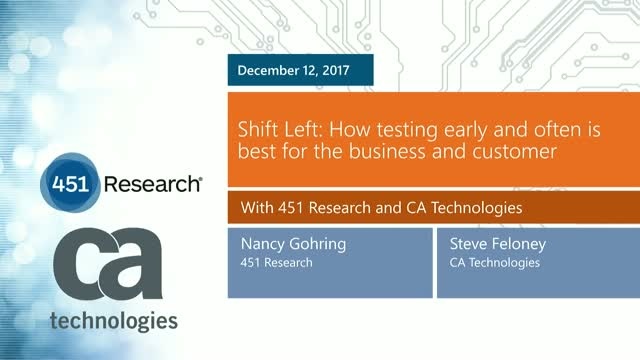 Shift Left: How testing early and often is best for the business and customer