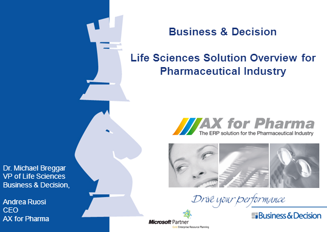 Microsoft Dynamics AX / ERP for Pharma Companies