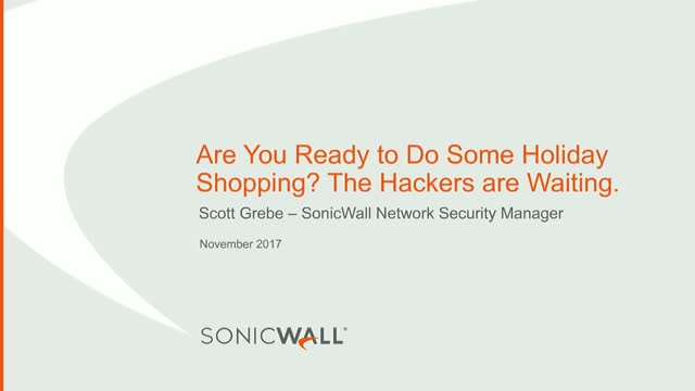 Are You Ready to Do Some Holiday Shopping? The Hackers are Waiting.