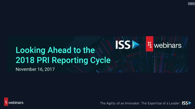 Looking Ahead to the 2018 PRI Reporting Cycle