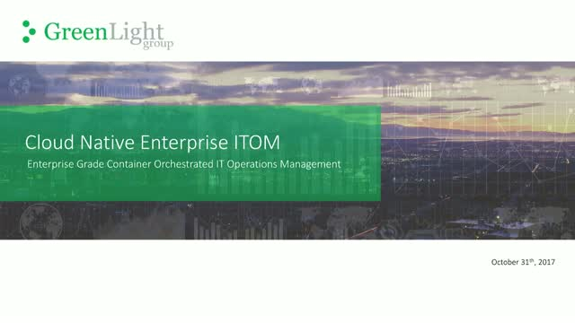Cloud Native Enterprise ITOM