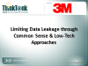 Limiting Data Leakage through Common Sense & Low-Tech Approaches