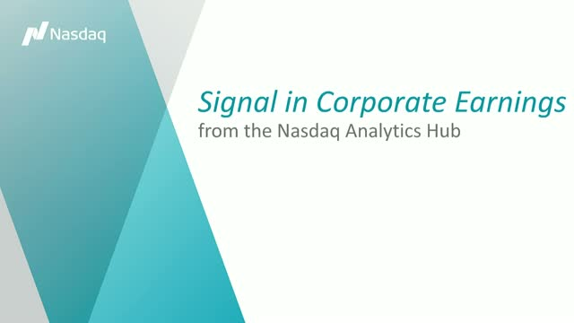 Signal in Corporate Earnings Analysis and Forecasting