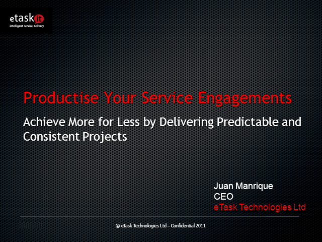 Productize Your Service Engagements