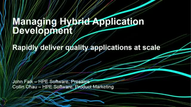 Managing a hybrid application development environment