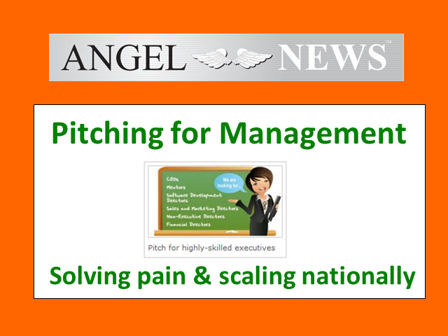 Pitching for management, not money