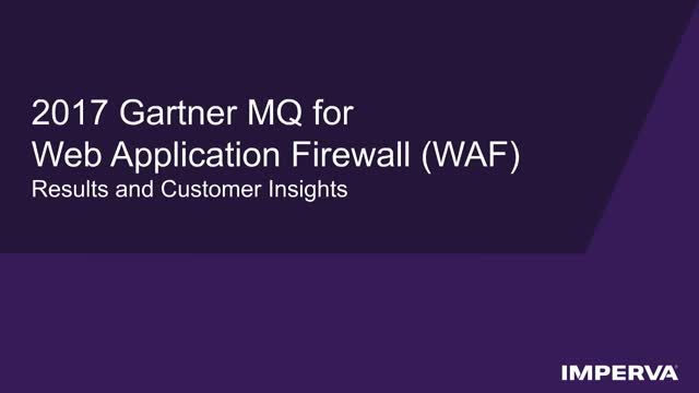 Gartner Report - Web App Firewalls and Protecting Your Critical Data