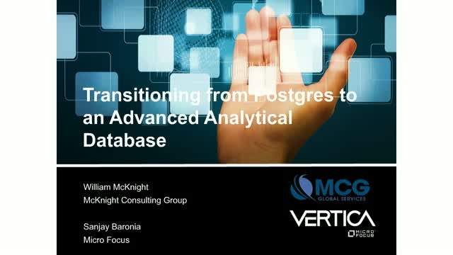 Transitioning from PostgreSQL to an Advanced Analytical Database