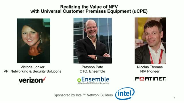 Realizing the Value of NFV with Universal Customer Premises Equipment (uCPE)