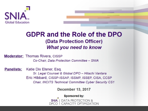 GDPR & The Role of the DPO (Data Protection Officer)