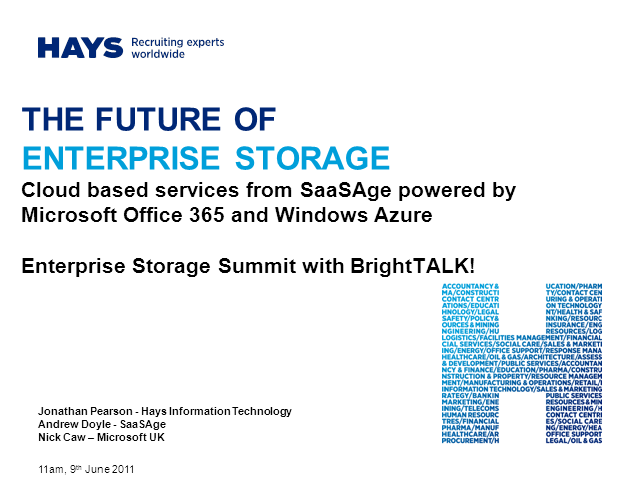 The Future of Enterprise Storage