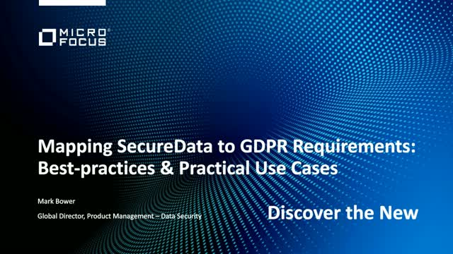 Mapping SecureData To GDPR Requirements Bestpractices Practical - Data mapping best practices