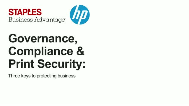 Governance, Compliance & Print Security
