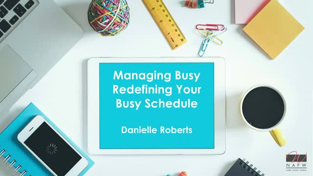 Managing Busy: Redefining Your Schedule