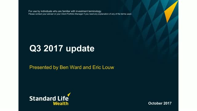 Standard Life Wealth Q3 2017 update