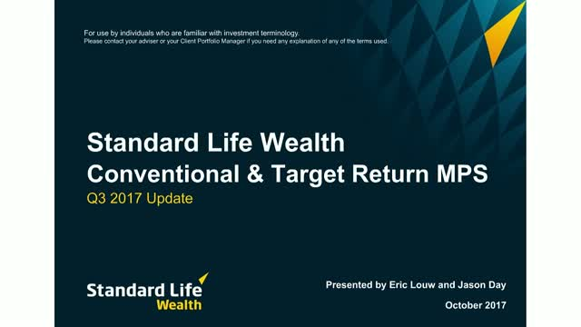 Standard Life Wealth Q3 2017 MPS update
