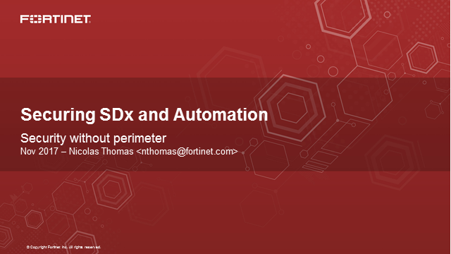 Securing SDx and Automation