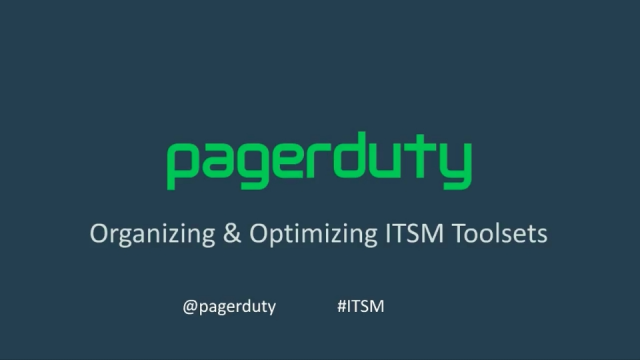 Organizing and Optimizing ITSM Toolsets