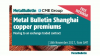 Metal Bulletin Shanghai copper premiums – moving to an exchange traded contract