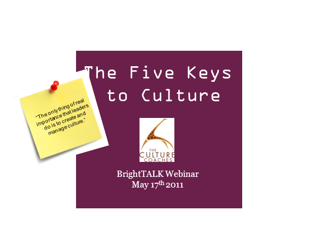 The Five Keys to Creating Culture