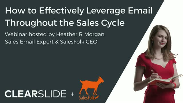 How to Effectively Leverage Email Throughout the Sales Cycle