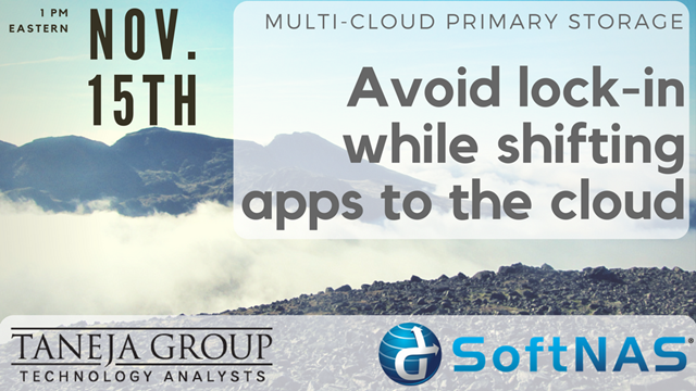 Multi-cloud Primary Storage: Avoid lock-in while shifting apps to the cloud