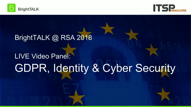 [CPE Credit Panel] GDPR, Identity & Cybersecurity