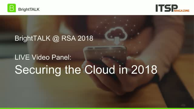 [CPE Credit Panel] Securing the Cloud in 2018