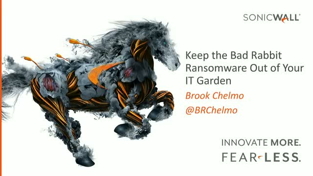 Keep the Bad Rabbit Ransomware Out of Your IT Garden