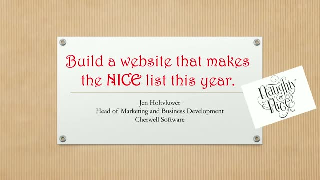 How to Build a Website that Makes the NICE List this Year