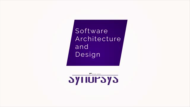 Software Architecture & Design from Synopsys