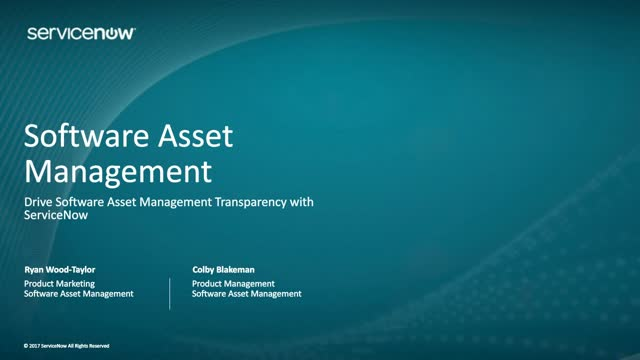 Drive Software Asset Management Transparency with ServiceNow