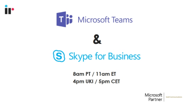 Microsoft Teams & Skype for Business - the road ahead for collaboration