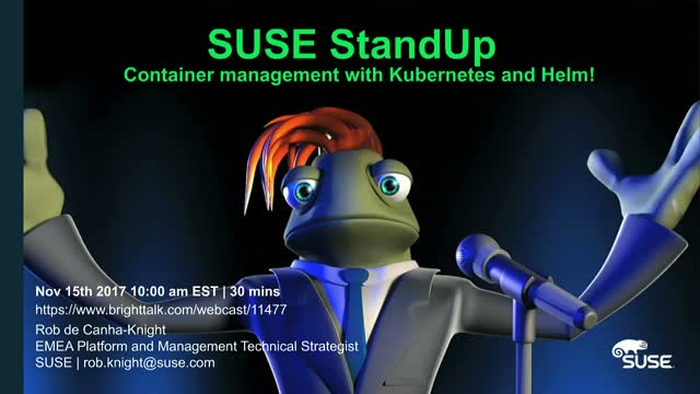 Technical Webinar: Container management with Kubernetes and Helm