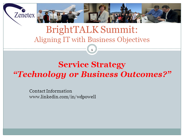 Service Strategy: Technology or Business Outcomes?