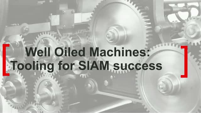 The Well Oiled Machine: Preparing tools for SIAM success