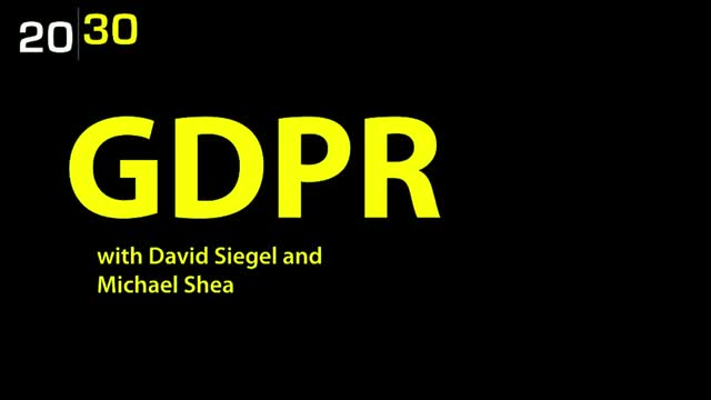 The New Business Reality of GDPR with David Siegel and Michael Shea