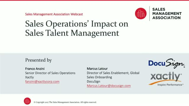 Sales Operations' Impact on Sales Talent Management