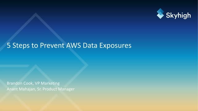 5 Steps to Prevent AWS Data Exposures