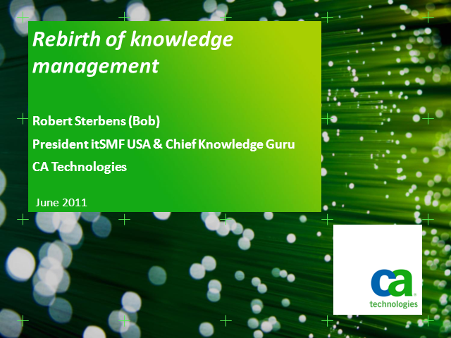 Rebirth of Knowledge Management