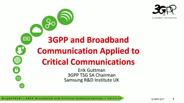 3GPP Broadband applied to Critical Communications