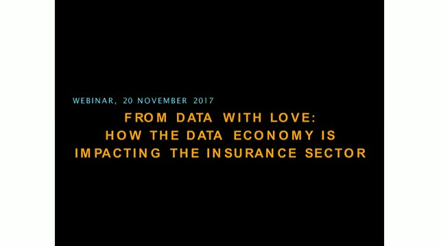 From Data with Love: How the data economy is impacting the insurance sector
