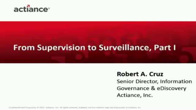 From Supervision to Surveillance