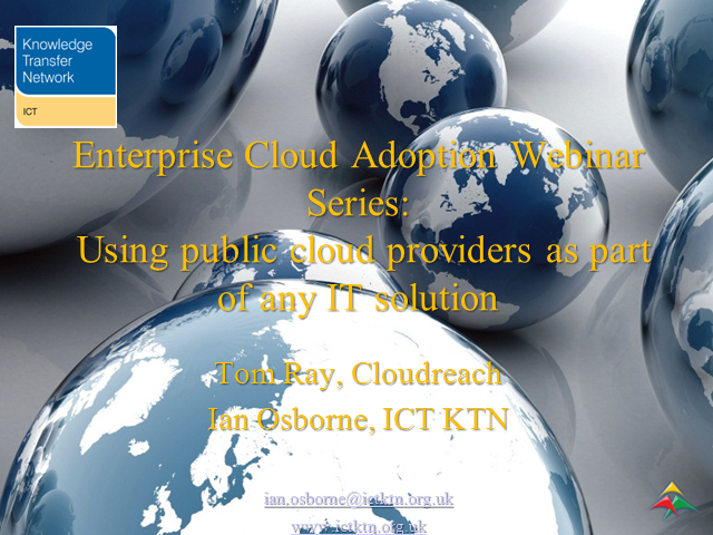 Public Cloud services as part of the SME IT business solution