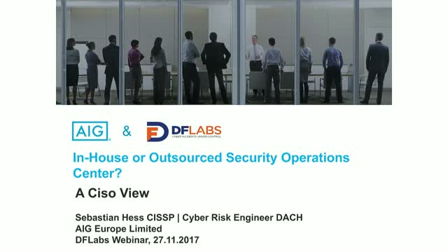 In-house or Outsourced Security Operations Center?