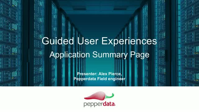 Pepperdata Application Summary Page Overview