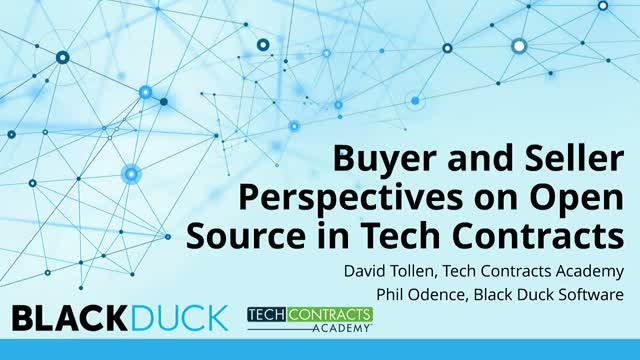 Buyer and Seller Perspectives on Open Source in Tech Contracts